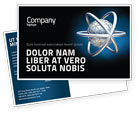 3D: Atom Model Postcard Template #03763