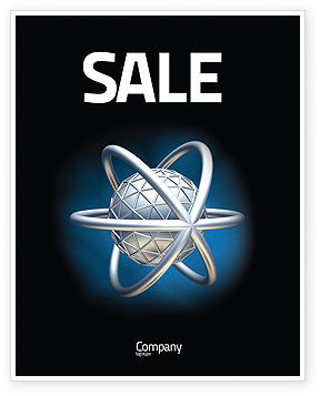 Atom Model Sale Poster Template, 03763, 3D — PoweredTemplate.com