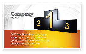 Business Concepts: Winner Place Business Card Template #03765