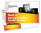 Business Concepts: Winner Place Postcard Template #03765