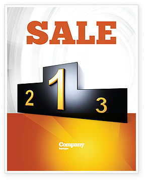 Winner Place Sale Poster Template, 03765, Business Concepts — PoweredTemplate.com