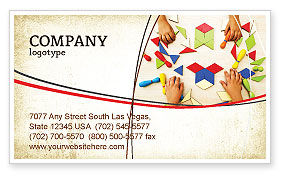 Mosaic Business Card Template, 03766, Education & Training — PoweredTemplate.com
