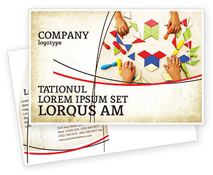 Education & Training: Mosaic Postcard Template #03766