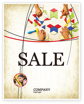 Mosaic Sale Poster Template