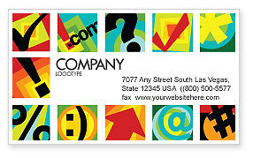 Abstract/Textures: Type Business Card Template #03768