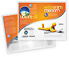 Education & Training: Orange Man With Laptop Brochure Template #03773