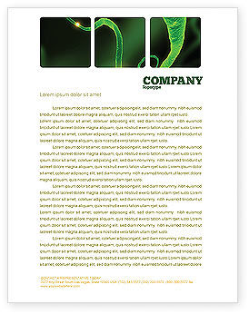 Nerve Letterhead Template, 03777, Medical — PoweredTemplate.com