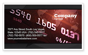 Financial/Accounting: Electronic Payment Card Business Card Template #03781