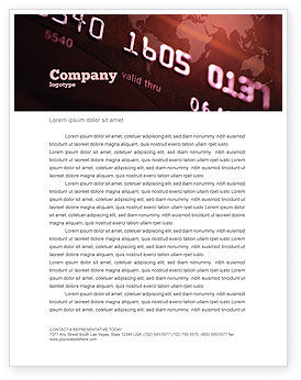 Electronic Payment Card Letterhead Template, 03781, Financial/Accounting — PoweredTemplate.com