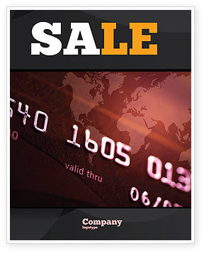 Electronic Payment Card Sale Poster Template, 03781, Financial/Accounting — PoweredTemplate.com