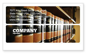 Education & Training: Law Books Business Card Template #03787