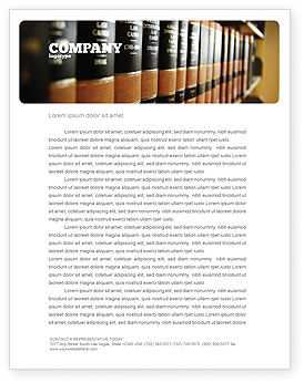 Education & Training: Law Books Letterhead Template #03787