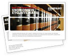 Education & Training: Law Books Postcard Template #03787