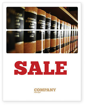 Law Books Sale Poster Template, 03787, Education & Training — PoweredTemplate.com