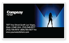 Art & Entertainment: Fashion Show Business Card Template #03788
