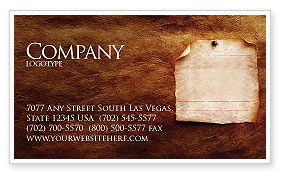 Old Paper Theme Business Card Template, 03789, Abstract/Textures — PoweredTemplate.com