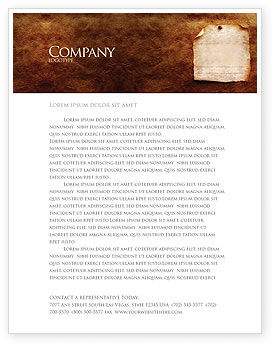 Old Paper Theme Letterhead Template, 03789, Abstract/Textures — PoweredTemplate.com