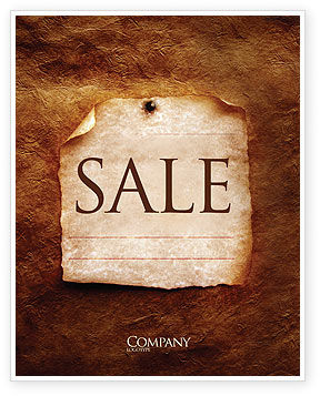 Old Paper Theme Sale Poster Template, 03789, Abstract/Textures — PoweredTemplate.com