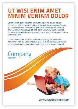 Education & Training: Long Distance Computer Education Ad Template #03793