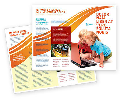 Long Distance Computer Education Brochure Template, 03793, Education & Training — PoweredTemplate.com