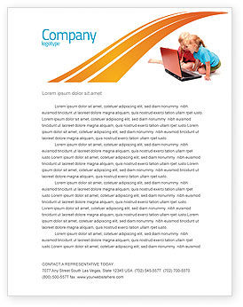 Education & Training: Long Distance Computer Education Letterhead Template #03793