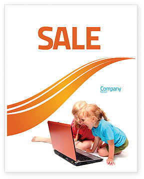 Long Distance Computer Education Sale Poster Template