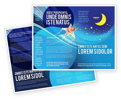 Starry Night Brochure Template