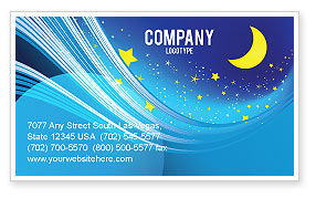 Abstract/Textures: Starry Night Business Card Template #03794