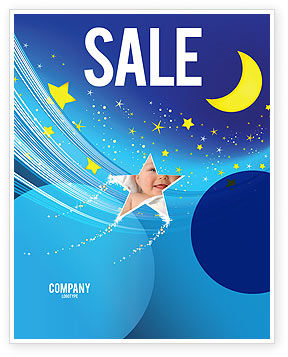 Starry Night Sale Poster Template, 03794, Abstract/Textures — PoweredTemplate.com