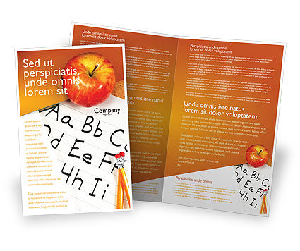 Elementary school brochure template design and layout for School brochure template free