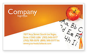 Education & Training: Elementary School Business Card Template #03795