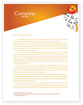 Elementary School Letterhead Template, 03795, Education & Training — PoweredTemplate.com