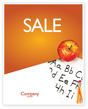Elementary School Sale Poster Template, 03795, Education & Training — PoweredTemplate.com