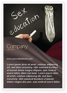 Sex Education Ad Template, 03797, Education & Training — PoweredTemplate.com