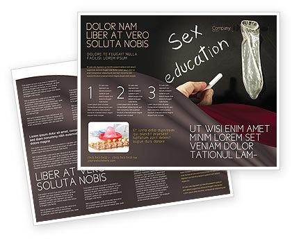 Education & Training: Sex Education Brochure Template #03797