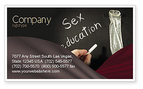 Sex Education Business Card Template, 03797, Education & Training — PoweredTemplate.com