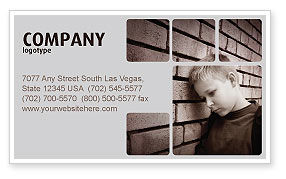 Consulting: Orphanage Business Card Template #03798