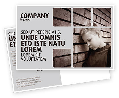 Consulting: Orphanage Postcard Template #03798