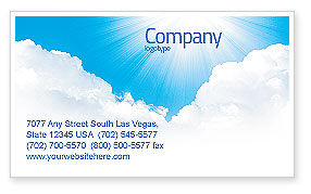Nature & Environment: Heaven Business Card Template #03799