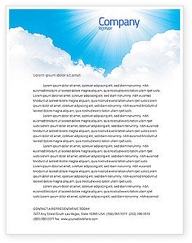 Nature & Environment: Heaven Letterhead Template #03799