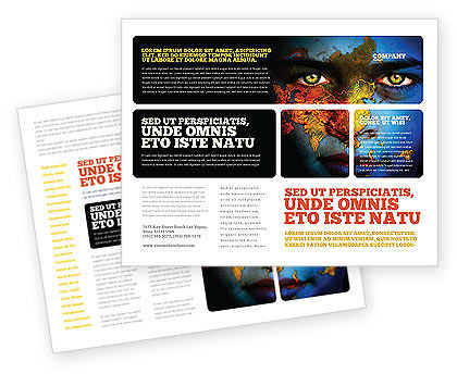 Eyes of Earth Brochure Template, 03807, Nature & Environment — PoweredTemplate.com