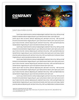 Nature & Environment: Eyes of Earth Letterhead Template #03807