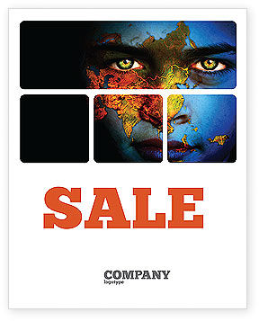 Nature & Environment: Eyes of Earth Sale Poster Template #03807