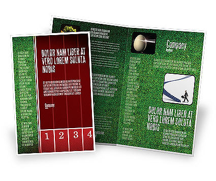 Starting Line Brochure Template, 03809, Sports — PoweredTemplate.com