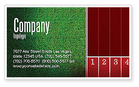 Starting Line Business Card Template, 03809, Sports — PoweredTemplate.com