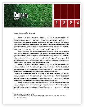 Starting Line Letterhead Template, 03809, Sports — PoweredTemplate.com