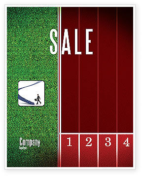 Sports: Starting Line Sale Poster Template #03809