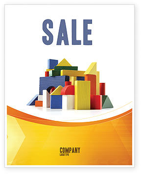 Education & Training: Wooden Kit Sale Poster Template #03812