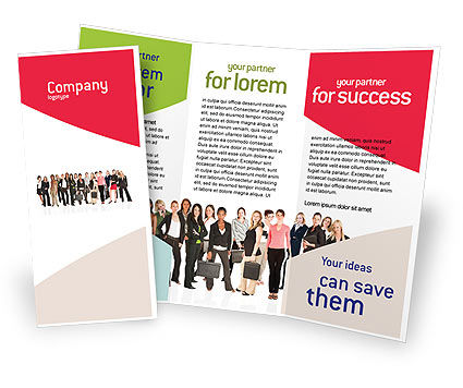 Business Ladies Brochure Template, 03813, People — PoweredTemplate.com