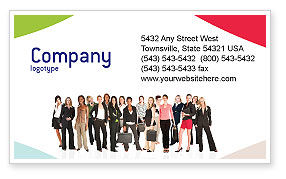 People: Business Ladies Business Card Template #03813